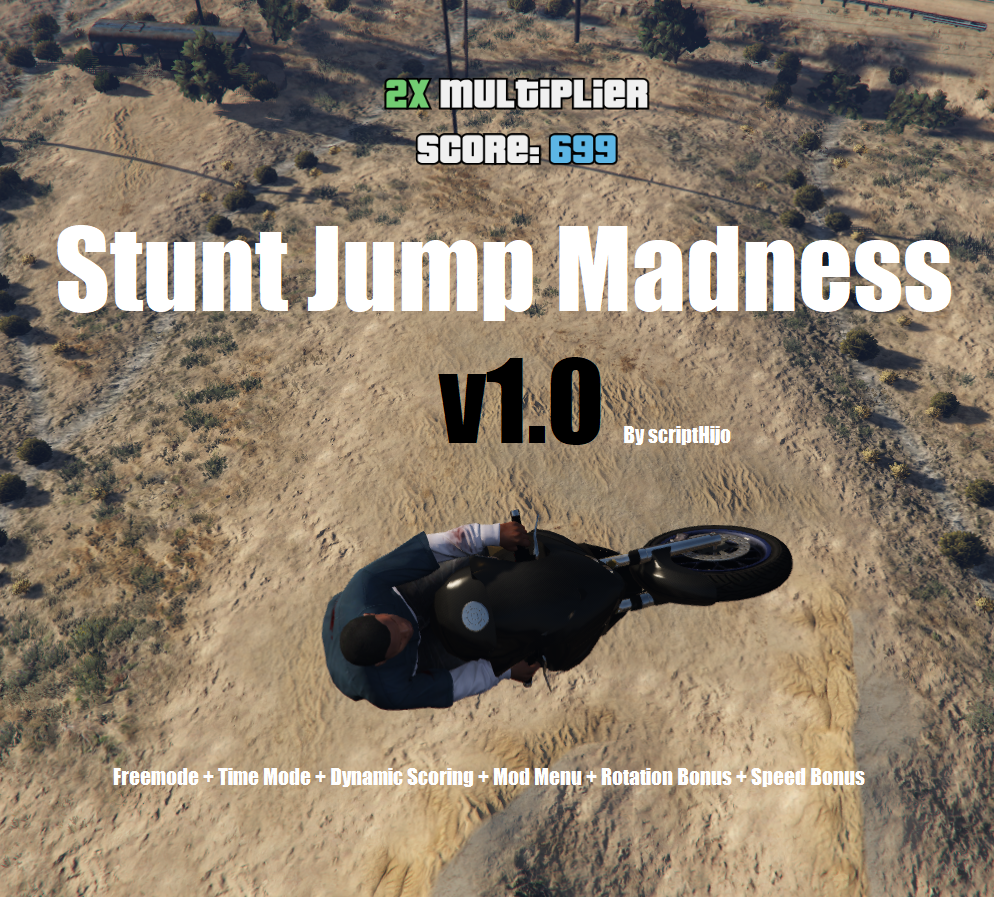 Stunt Jump Madness [.NET] - GTAV Supercross mod 1.2.0