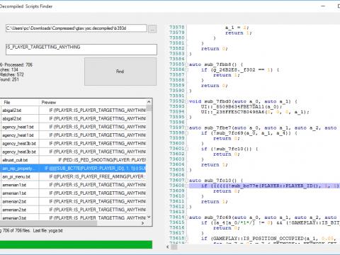 GTA V Decompiled Scripts Finder V 1.0