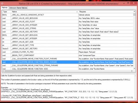 Enumerator's GTA V Natives Searcher/Downloader v3