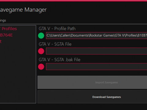 Callen's GTA V - Savegame Manager 1.0