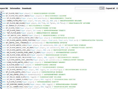 GTAV Native DB Viewer Web/Local 1.0
