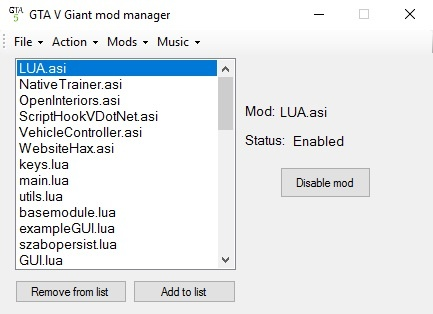 Giant Mod Manager 1.0.2