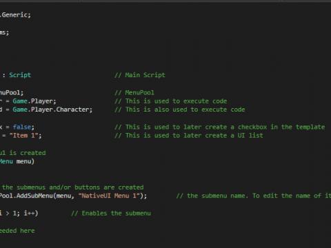 NativeUI Mod Menu Template 3.5