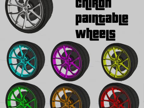 Paintable Buggati Chiron Wheels [ZModeler3 Resource] 1.1