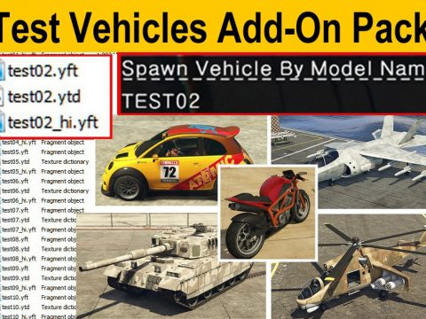 Test Vehicles Add-On Pack (All-in-1) 2.2