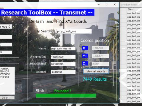 XtremToolBox -- Hash / DeHash / XYZ coords object 1.0