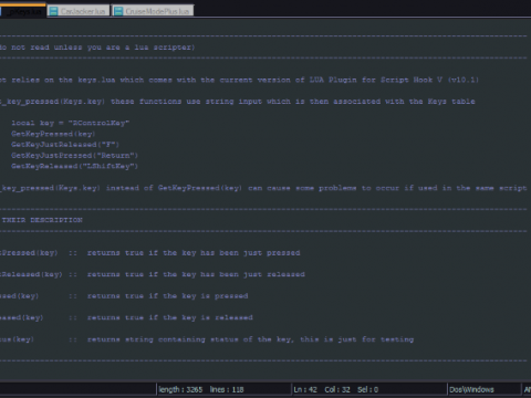 _pKeys.lua module [LUA Modders Resource] 1.0
