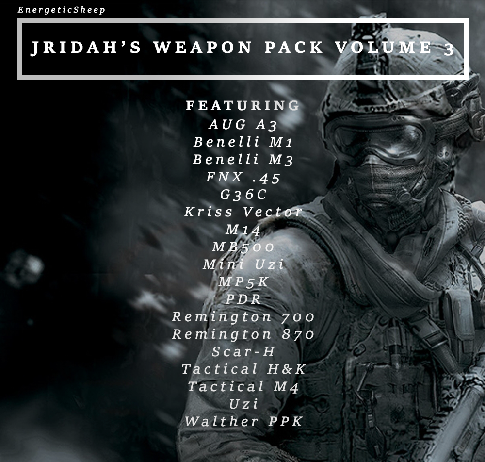 Jridah's Weapon Pack Vol. III v1.1
