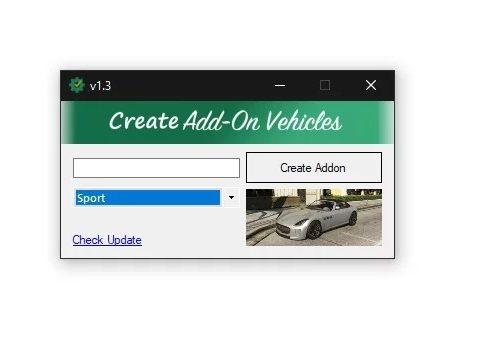 Addon Creator Vehicles v1.3