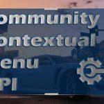 Community Contextual Menu API 0.9
