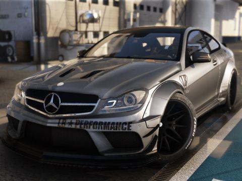 Mercedes-Benz C63 Black Series LibertyWalk 2014 [Add-On | Dirtmap | Template] 1.0