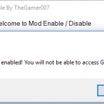 Mod Enable / Disable 1.0