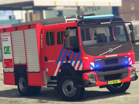 Volvo FE Euro 6 2016 Dutch Brandweer [Replace|ELS|Reflective] 1.01