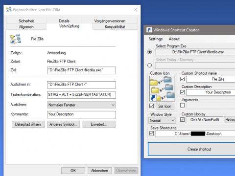 Windows Shortcut Creator 2.4