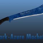 Dark-Azure Steel Machete 1.0