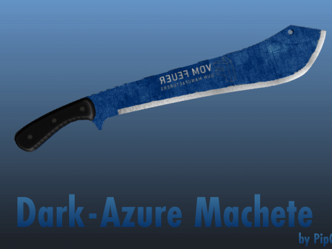 Dark-Azure Steel Machete 1.0