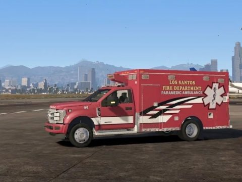2017 Ford F450 SuperDuty Single Cab Ambulance [FiveM] [NonELS] 1.00.a non els
