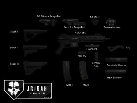 H&K 416D Tactical (+Modifications)