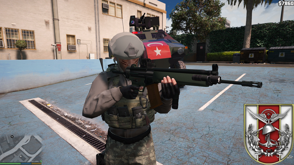 Turkish armed personnel hk33