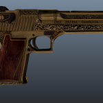 Desert Eagle (Blue Estate - The Game) Platin Deluxe Camo replacement