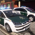 2004 Citroen C4 Guardia Civil Seguridad Ciudadana [ELS/Replace] (spain police car Citroën C4) 1.0