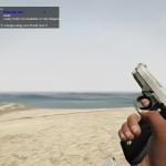 Beretta M9 Silver-Black Retextured,  Animated / Replaces Pistol Luxe