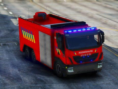 Iveco Trakker Tankwagen Brandweer België 1.1
