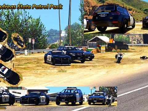 San Andreas Highway Patrol pack[ Add on] [custom sound] [automatic install] v1.0