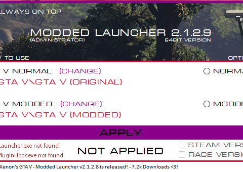 GTA V - Modded Launcher (Only Retail) 2.1.2.9