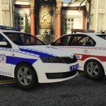 2014 Skoda Rapid Policija Srbije / Serbian Police Pack Marked / Unmarked [ ELS | Non-ELS | Replace | Template | 4K ] V1.0