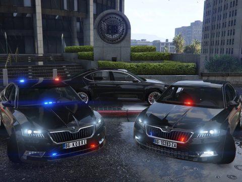 2015 Skoda Superb Unmarked / Kobre Police [Add-on | Replace | ELS | LODs] V1.0