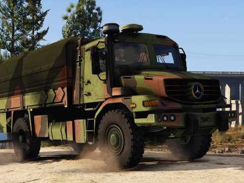 Mercedes Zetros Bundeswehr [Add-On] 1.0