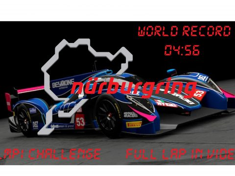 (LMP1 CHALLENGE) World Record Handling for RWDP30 LMP1 at NordSchleife 1.0