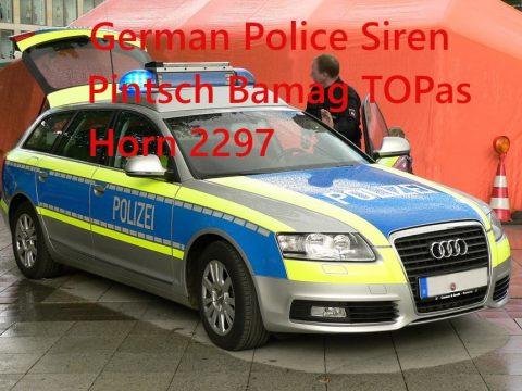 German Police Siren Pintsch Bamag TOPas 1.2