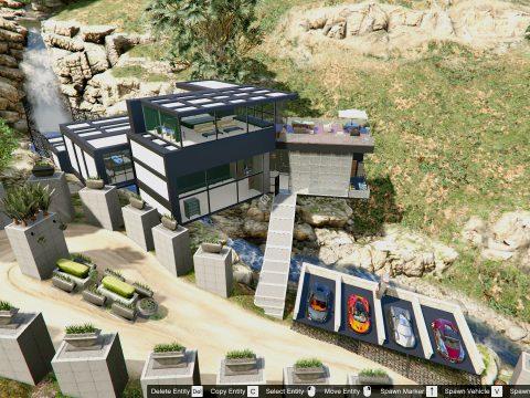 Millionaire Waterfall Mansion (Garage / Waterfall chill area) 1.2