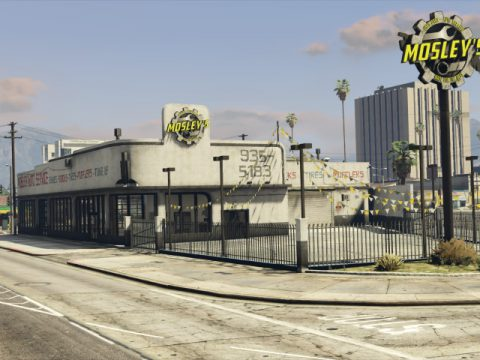 Mosley's Auto Shop (MLO) [SP / FiveM] v4.0
