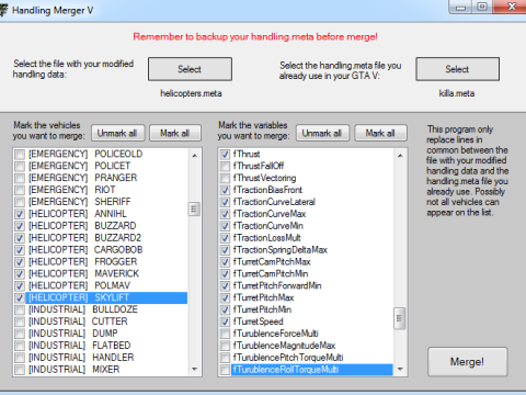 Handling Merger V 1.0.0.1