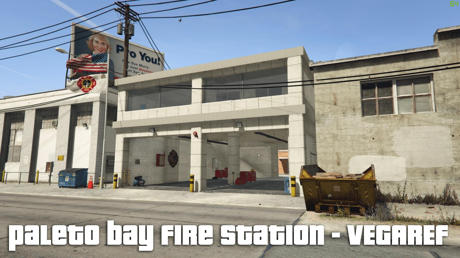 Paleto bay - fire station - fire house - Menyoo xml file 0.1