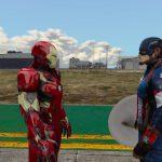 Captain America: Civil War Iron Man Mk.46 Armor + Captain America Ported Head 1.2