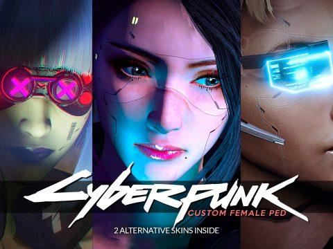Cyberpunk-esque Custom Female Ped [Add-on Ped | Replace] v1.1