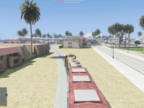Freight Train Tracks for Las Venturas & San Fierro DLC 1.0