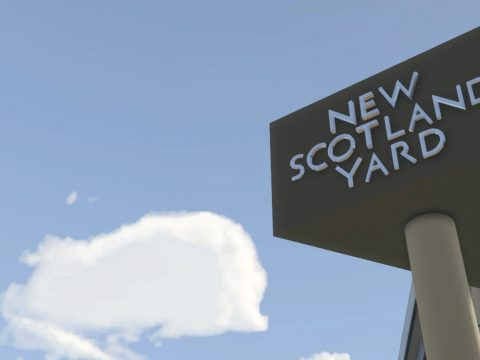 London Metropolitan Police - New Scotland Yard Sign