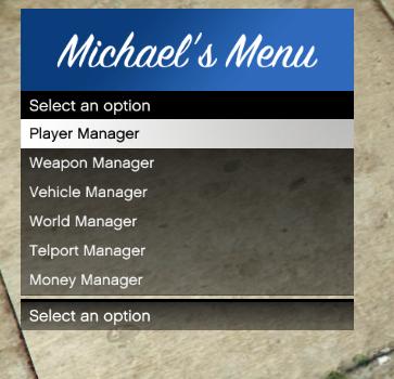 Michael's ModMenu 1.0