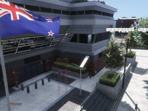 New Zealand flags at missionrow police department 1.0