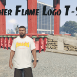 Thrasher Flame Logo T-Shirt for Franklin 1.0