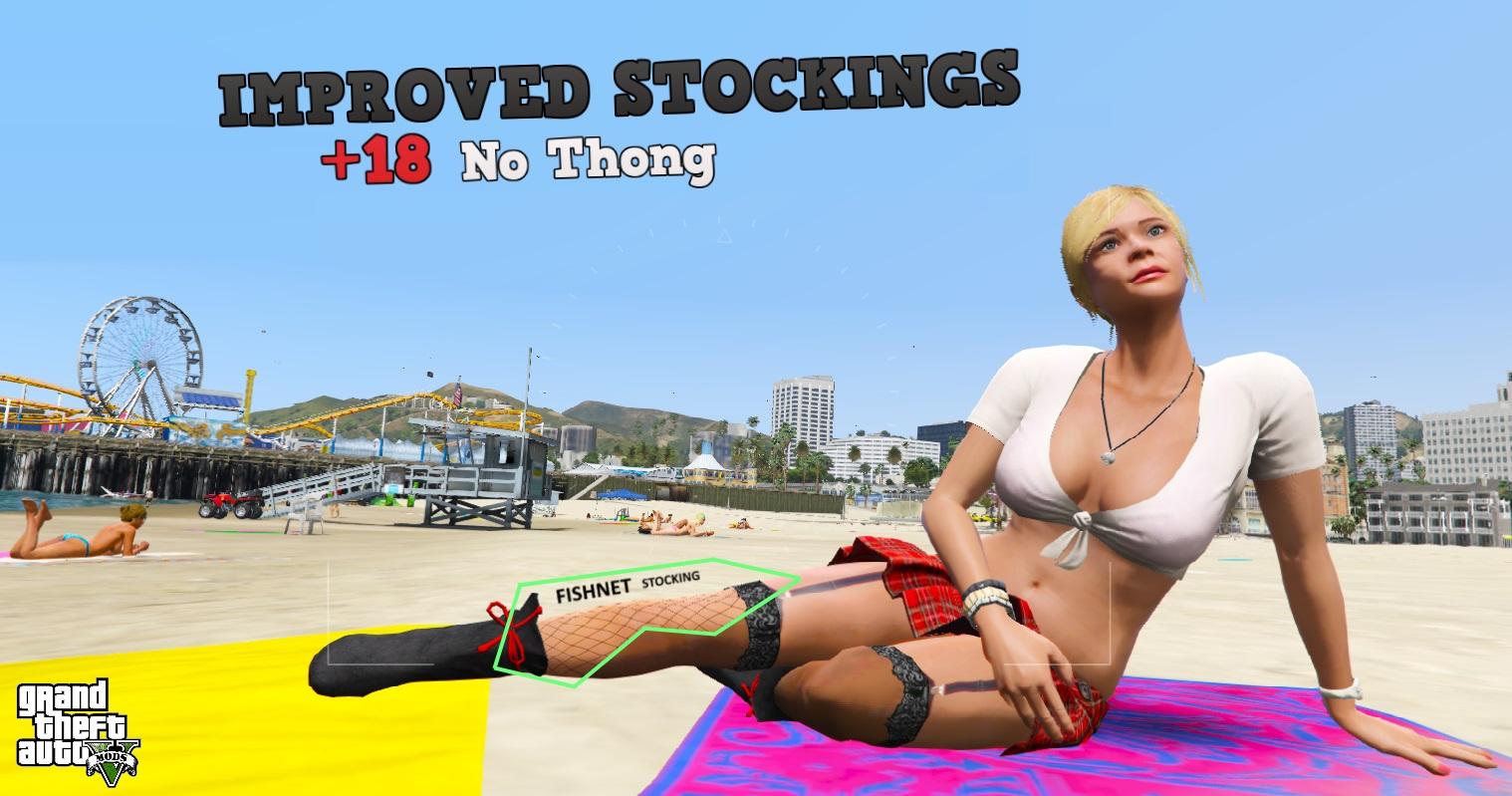 Tracey De Santa - Improved Stockings (18+) [Replace / Cutscene] 2.0