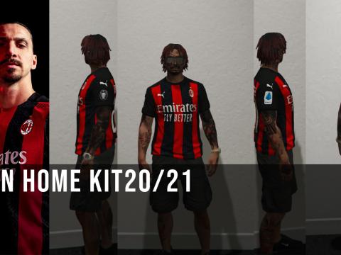 MP AC MILAN HOME FOOTBALL JERSEY 2020/21 [Fivem Ready] 1.1
