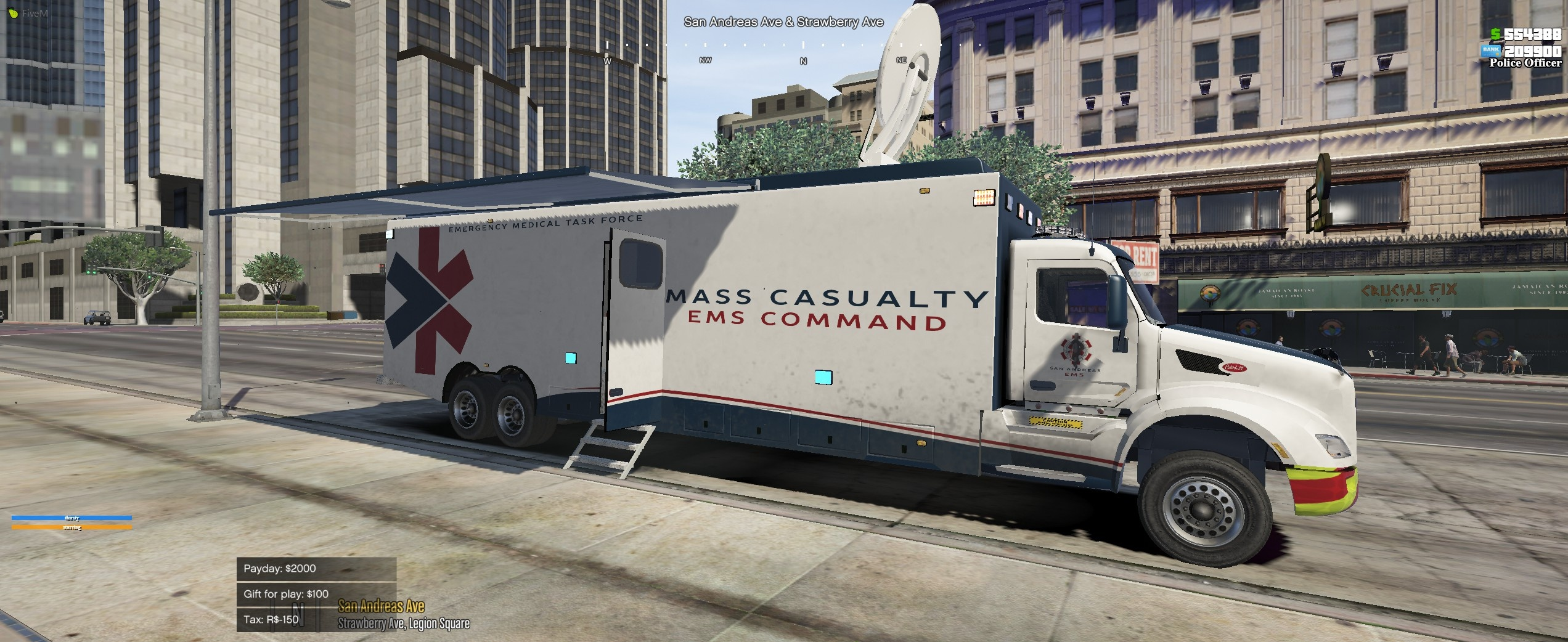 Peterbilt Mobile Command Center by Candimods add on/5M 1.02