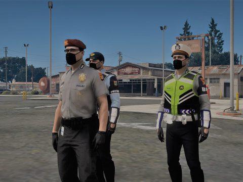 Seragam Dishub Dan Polisi Indonesia [MP/Freemode] 1.0
