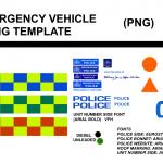 UK Emergency Vehicle Skinning Template WIP 0.3